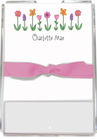 personalized memo sets � wild flowers