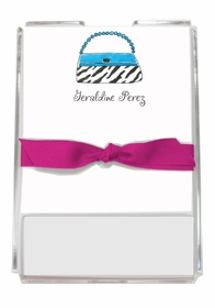 personalized memo sets � wild for purses