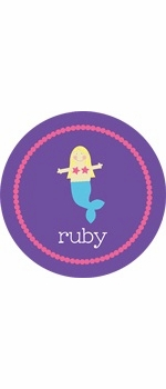 personalized mermaid plate (style 1p)