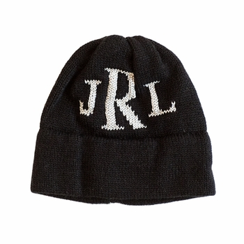 personalized metallic hat with monogram Initials