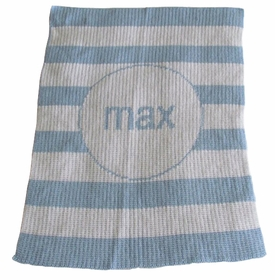 personalized modern stripe blanket