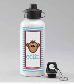 personalized monkey bottle for boys