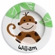 personalized monkey mischief plate