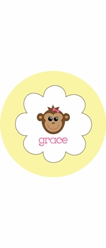 personalized monkey plate (style 1p)