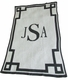 personalized monogram and scroll stroller blanket