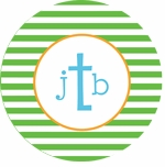 personalized monogram boy plate (style 2p)