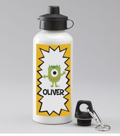 personalized monster water bottle