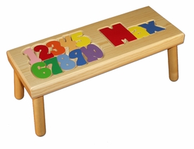 personalized name and number stool