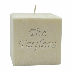 "personalized name candle - 4"" palm wax"