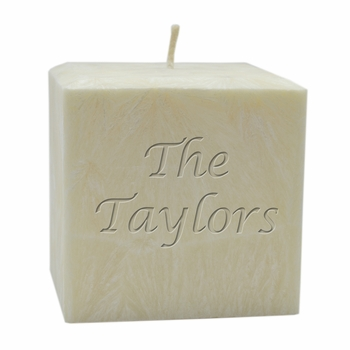 """personalized name candle - 4"""" palm wax"""
