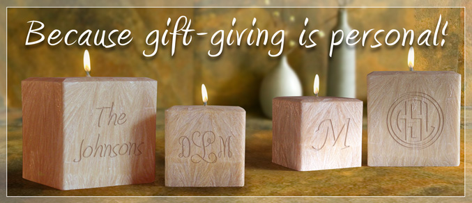 personalized name candle 4 palm wax