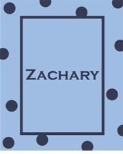 personalized name dot baby blanket