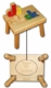 personalized name puzzle stool - natural with primary colors