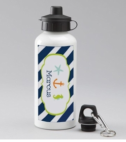 personalized nautical bottle for boys