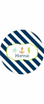 personalized nautical boy plate (style 2p)