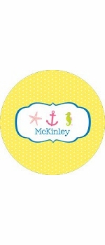 personalized nautical plate (style 1p)