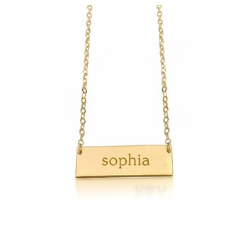 personalized new bar name necklace 24k gold plated