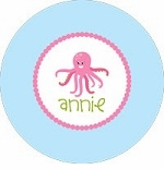 personalized octopus plate (style 1p)
