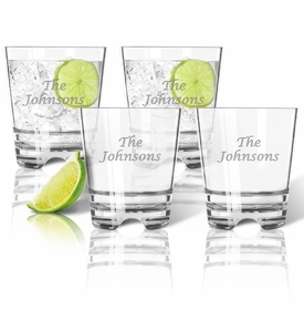 Personalized Double Old Fashioned Glasses 12oz - Set of 4 (Unbreakable)