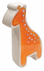 personalized orange giraffe coin bank