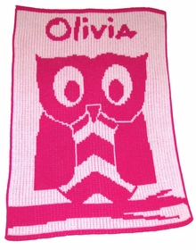 personalized owl baby blanket