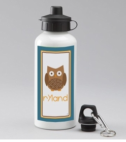 personalized owl bottle for boys