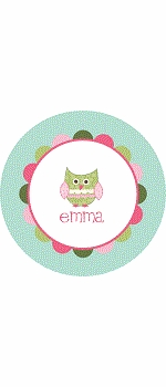 personalized owl plate (style 1p)