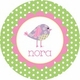 personalized patchwork birdie plate (style 1p)