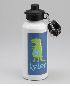 personalized patchwork dino bottle for boys