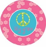personalized peace sign plate
