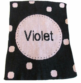 personalized perforated circle stroller blanket