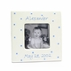 personalized picture frame - blue dot
