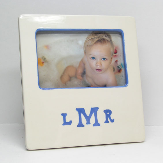 personalized picture frame - message border featured at babybox.com