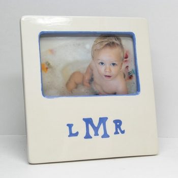 personalized picture frame -  message border