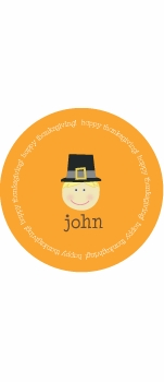 personalized pilgrim holiday plate (style 2p)