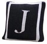 personalized pillow with initial and single border