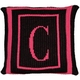 personalized pillow with monogram and double border (thin inner)