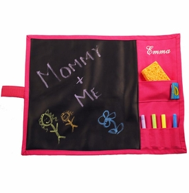 personalized pink chalkboard placemat