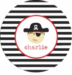 personalized pirate boy plate (style 1p)