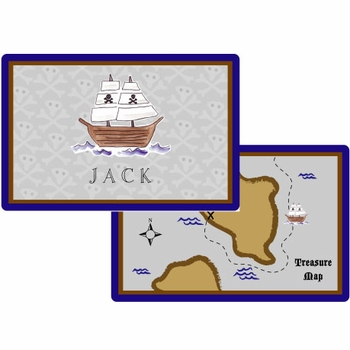 personalized placemat - ahoy matey