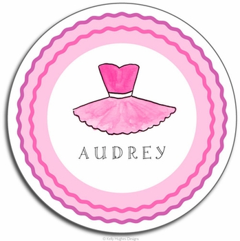 personalized placemat - ballerina girl