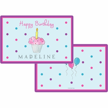 personalized placemat - birthday cupcake