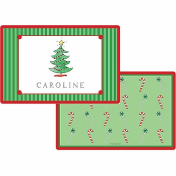personalized placemat - christmas tree