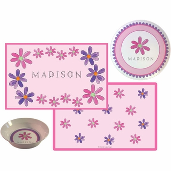 personalized placemat - flower power
