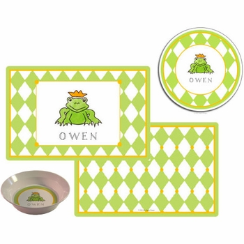 personalized placemat - frog prince