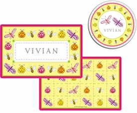 personalized placemat - garden party
