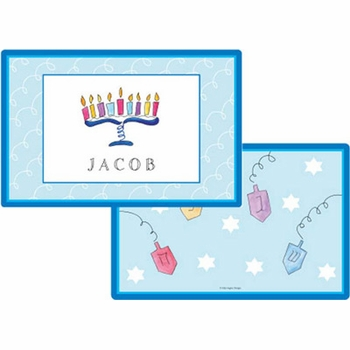 personalized placemat - happy hanukkah