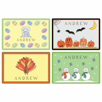 personalized placemat - holidays 1