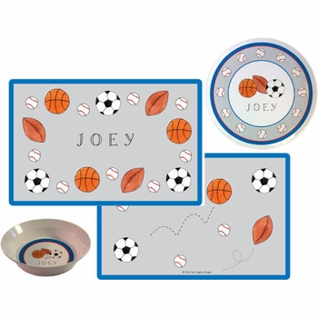 personalized placemat - sports fan