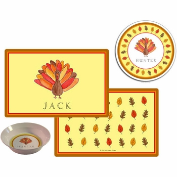 personalized placemat - thanksgiving turkey